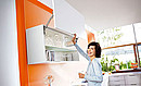 The AVENTOS HL lifts the one-part frontal parallel to the cabinet. This lift system is ideal for applications in tall and wall cabinets with additional fronts above. AVENTOS HL is easy to open and...