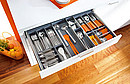 Inner dividing system for drawers High-quality ORGA-LINE sets with dishwasher safe, stainless steel compartments provide proper organisation for your cutlery. The individual cutlery containers can be...