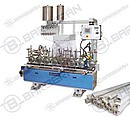 Profile lamination machines (aluminum, PVC and MDF profiles), details, flats and other similar products with veneers, paper foils, PVC foils, HPL or CPL laminates. EVA, PVAc, PUR or PO based glues...