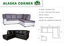 Klasyczny narożnik wykorzystujący najlepsze cechy modelu Alaska. Pięć dużych przestawnych poduszek na oparciu sprawia, że model jest bardzo komfortowy, a jego wygląd może być modyfikowany...