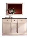 Mirror: Height: 760 mm Width: 1066 mm Depth: 32 mm Sideboard: Height: 900 mm Width: 1372 mm Depth: 445 mm