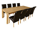 VERONA Quad Table and Verona Leather Chairs