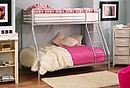 This Seattle bunkbed has a twist to the standard design. Capable of sleeping three, this twin full bunkbed can accommodate the most sleepers in the least space. Durable and modern, this Seattle is an...