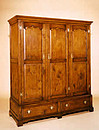 Linen Press 3-Door Drawer Cupboard