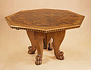 Octagonal Italian-Walnut Centre Table