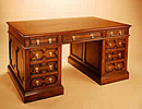 Pedestal Desk-Geometric Mouldings