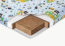 Детский беспружинный матрац на основе упругого блока латексированного кокосового волокна. Эта модель...