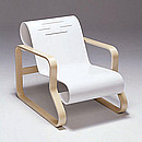 ARMCHAIR 41 PAIMIO Designer: Alvar Aalto 1931-32 Birch, natural lacquered Seat bent birch plywood lacquered in white or black