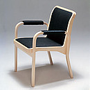 Designer: Alvar Aalto 1946-47 Birch, natural lacquered Seat with PU foam Upholstery options: Artek's standard fabric or customer's own fabric, leather Armrests: Rattan or leather windings, quilted...
