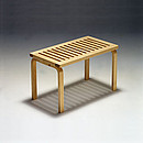 BENCH 153B Designer: Alvar Aalto 1940-45 Birch, natural lacquered, stained in white or black 72.5x40 cm
