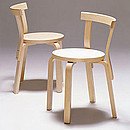 CHAIR 68 Designer: Alvar Aalto 1933-35 Birch, natural lacquered Seat options: birch veneer, linoleum, laminate, upholstered Upholstery option: Artek's standard fabric or customer's own fabric,...