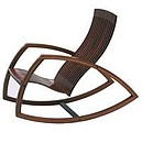 Available models Rocking Chair Materials Wallnut stained beech plywood Dimensions (w) 57cm x (l) 109cm x (h) 90cm