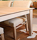 * Taper edge on table top * Double tapered legs in 80mm * Side rails just set back from legs