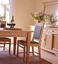 This classic solid oak framed design combines both robust construction with great looks. The upholstered back panel and seat provide a comfortable solid wooden chair Complementary Designs Works well...