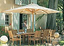 Shade yourself from the midday sun with a selection of traditional market-style parasols, available in both round and rectangular sizes.