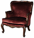 Hand carved occasional chair in the style of Thomas Chippendale