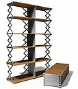 Scissor shelf unit