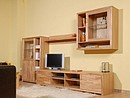 Wallunit MIA is manufactured in a partial solid structure with fronts - doors, front frame realized from solid kernel beech panels in a oiled finishing. The carcass is manufactured from melamined...