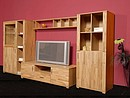 Wallunit PLUS is manufactured in a partial solid structure with fronts - doors, front frame realized from solid kernel beech panels in a oiled finishing. The carcass is manufactured from melamined...