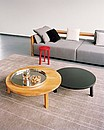 Designer: Philippe Allaeys, 2006 With its rounded, minimalistic forms, the PA05 LEILA coffee table supplies a compelling contrast to the rectangular structure of Sofas and chairs. Given its different...