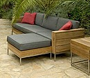 Marbella is a modular lounge group with the grandeur of indoor furniture, yet made of materials which are suitable for outdoor use. The programme consists of independent elements which can be...