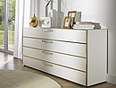 Coro chests of drawers are the largest of our chest system and come in countless colour combinations. The tall versions of these units come with five drawers and, in the new Max version, a width of...
