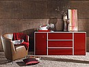 With their silver handles and wide range of fashionable colours, Togo chests of drawers are the star accessories of the Collection series. Available in a number of widths and heights and with either...