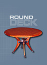 Round deck table