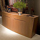 Scuklpture sideboard with 4 doors and 4 drawers in Ipe Tabaco
