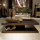 Coffee table with two shelves in Ipe Tabaco veneer.