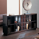 Double face modular piece of furniture in solid cherry wood and special extra light, balaced multilayer.