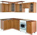 Corner set of kitchen furniture. Size: Length:2400 x Depth:1400 x Height:2424