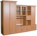 Set of case furniture Oktava Size: Length:2800 x Depth:637 x Height:2169