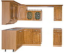 Kitchen furniture Vanda 10 Size: Length:1400 x Depth:2400 x Height:2300