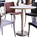 Series of tables with different heights. 6 different feet. Stool.