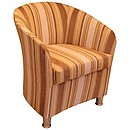 FU 50 Custom Finished Striped Tub Chair